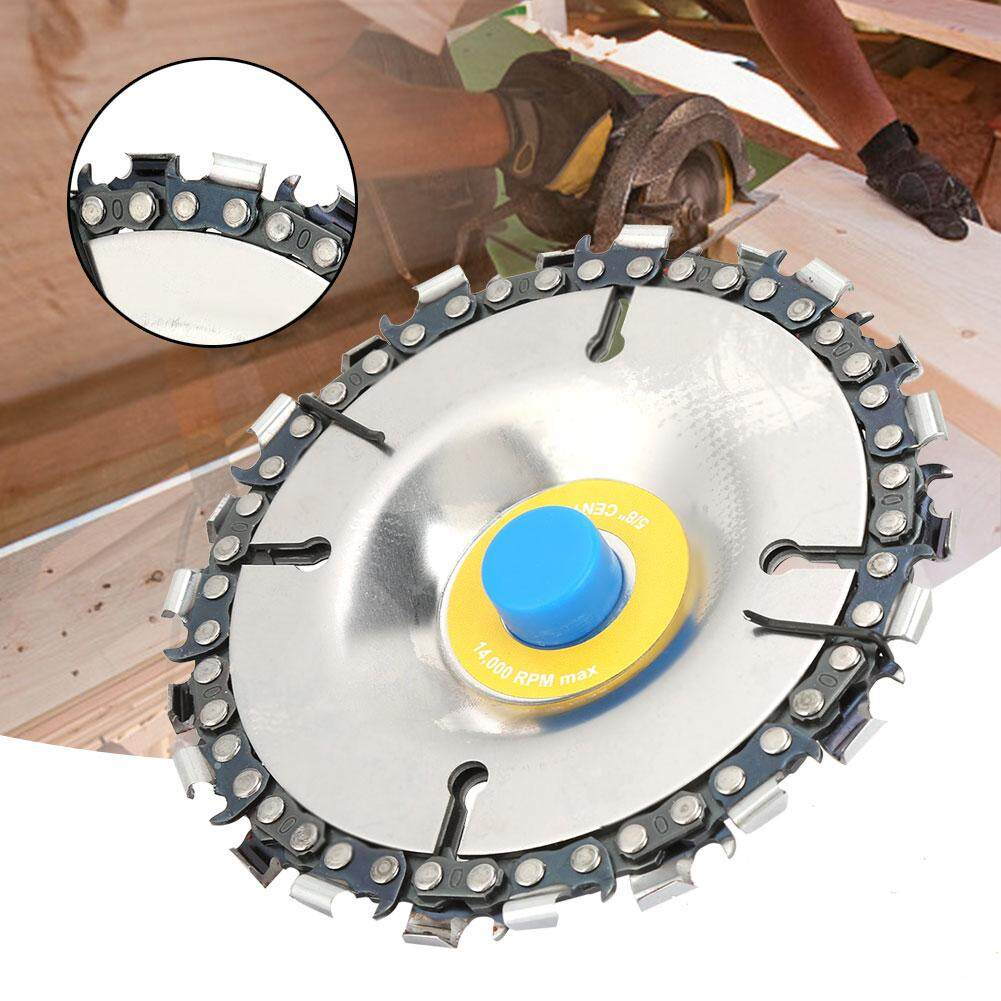 102mm/4 22 Teeth Chain Disc Woodworking Slotting Chain Wheel for 100/115mm Angle Grinder