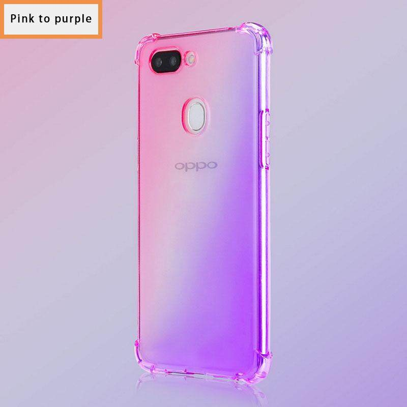 phone case for Oppo A83 A1 Colourful clear cover soft case Anti-fall casing