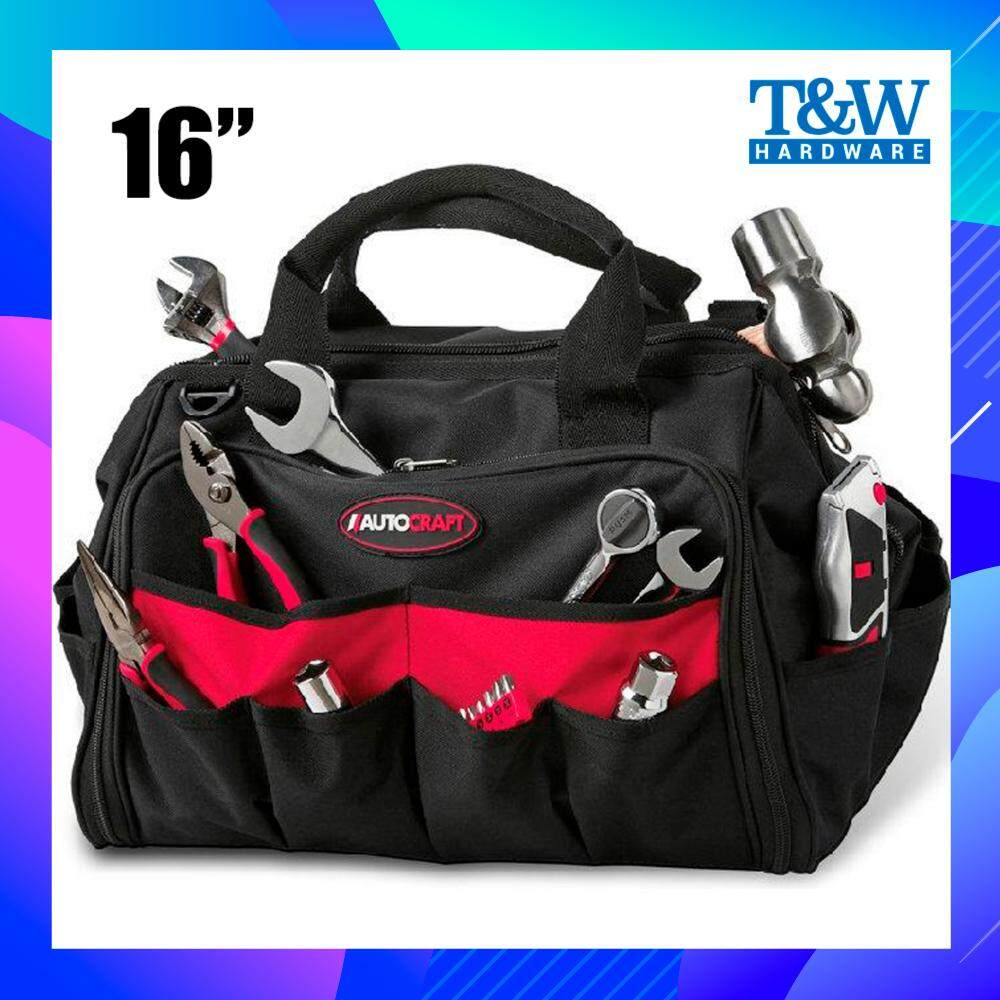 AUTOCRAFT 16 Heavy Duty Multi-Purpose Hardware Tool Bag / Bag Alat