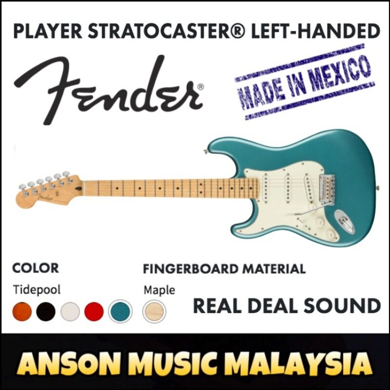 Fender Player Stratocaster Left-Handed, Maple Fingerboard, Tidepool Malaysia