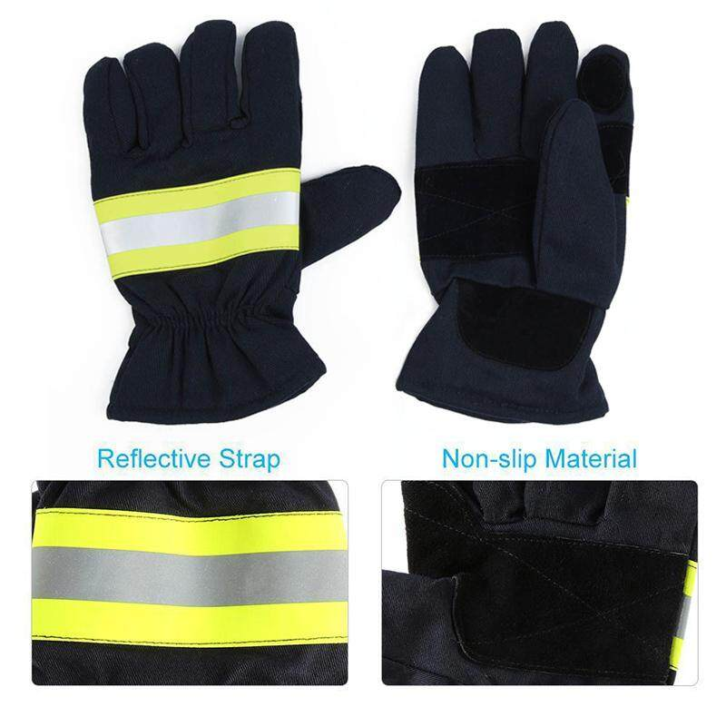Firefighting Gloves Fire Proof Heat-resistant Non-slip Anti-fire Gloves F0L6