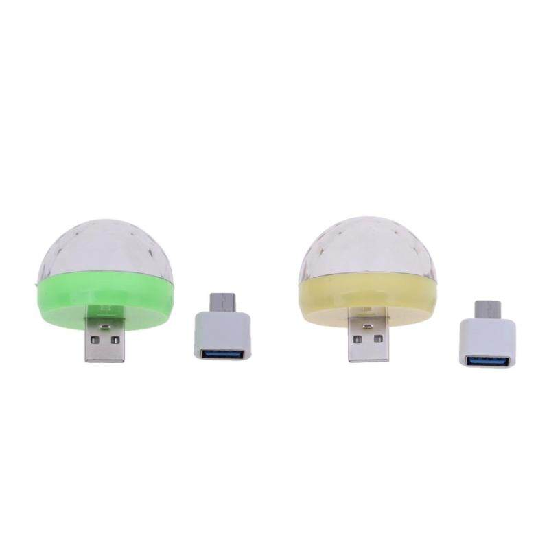 Bảng giá Phép Lạ Chiếu 2 Cái USB Mini Disco Ánh Sáng Bóng ĐÈN LED Di Động Karaoke KTV Trang Trí Tiệc Đèn Phong Vũ