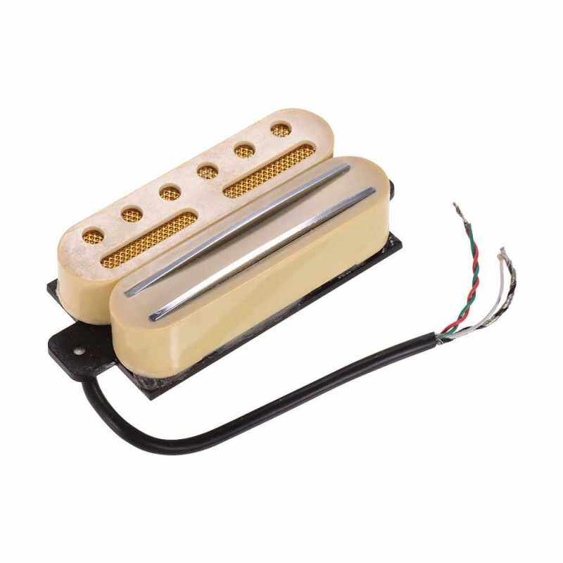 Hot Rail Dual Coil Humbucker Pickup with 4 Wires for ST LP Electric Guitar Replacement Parts (Yellow) Malaysia