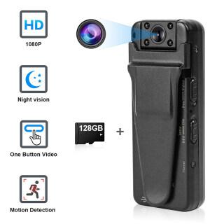 Milageto Máy Quay Ẩn Cơ Thể Nhỏ Gọn Máy Ghi Hình Đeo Được HD Camera Quan Sát Ban Đêm thumbnail