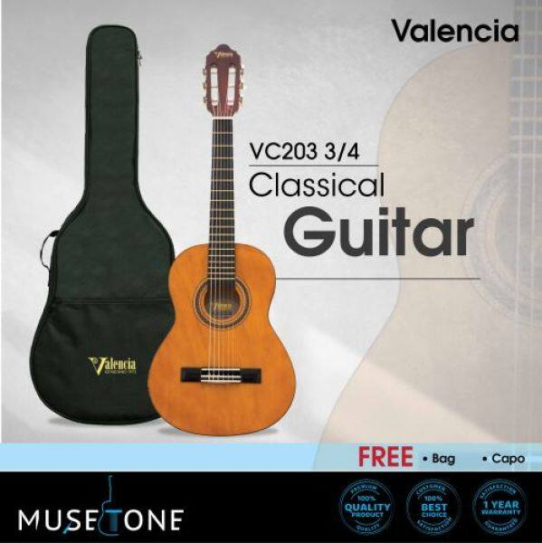 Valencia VC103 3/4 Classical Guitar for beginner (best student model)  come with bag and Tuner & Capo Malaysia