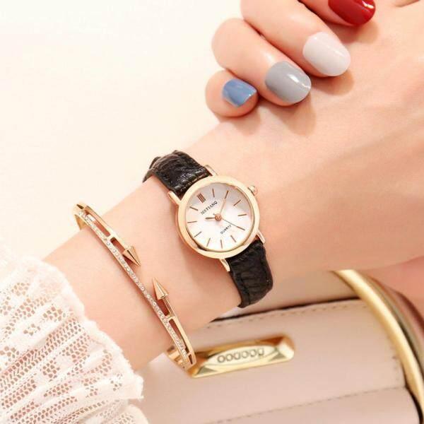 JIU Womans Fashion Quartz Wristwatch Soft Leather Watch Band Simple Pointer Watch Malaysia