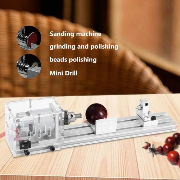 220V Mini Lathe Beads Machine Woodworking DIY Polishing Cutting Drill Rotary Tools