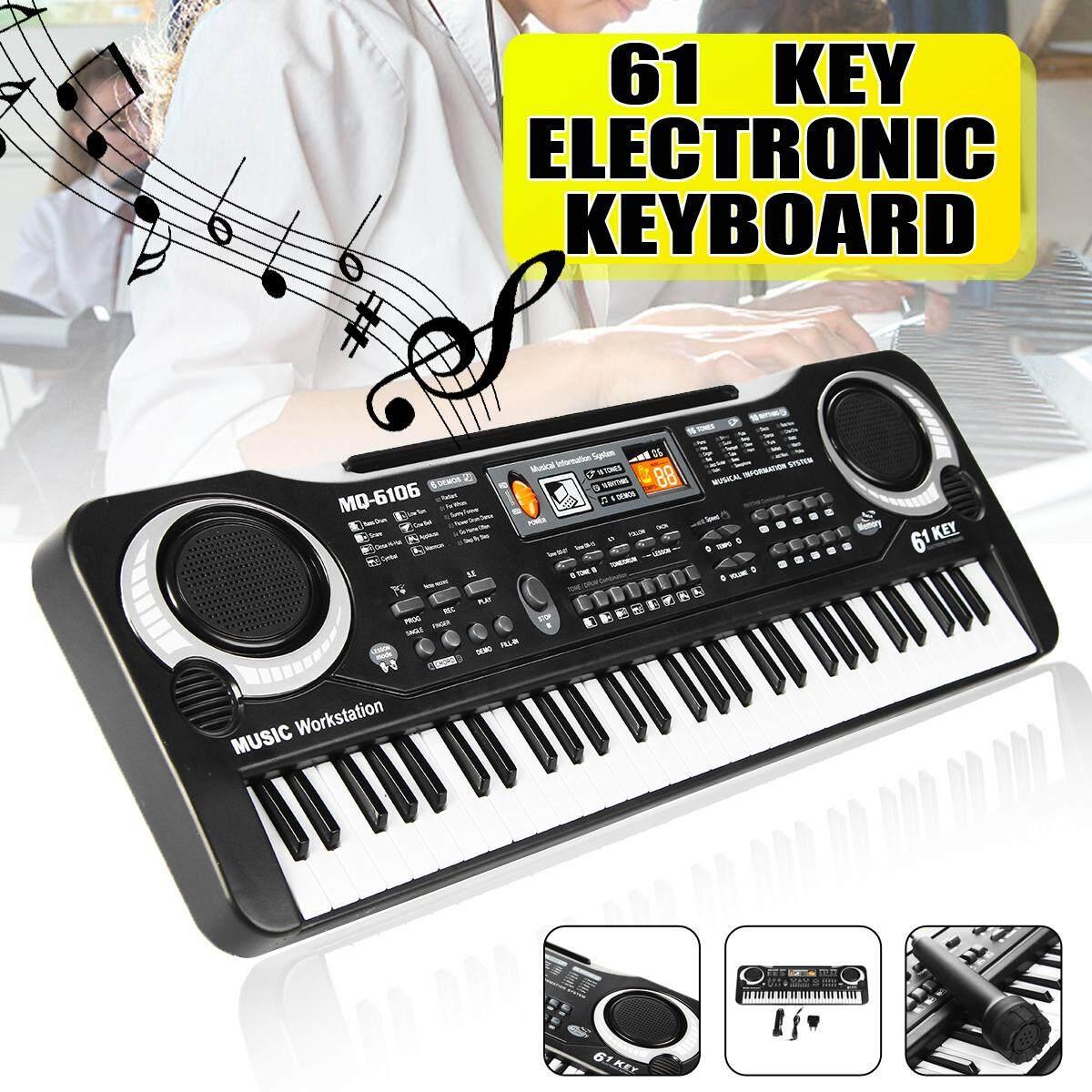 61 phím Âm Nhạc Điện Tử Kỹ Thuật Số Bàn Phím Điện Cơ Quan Trẻ Em Quà Tặng Tuyệt Vời Với Micro Dụng Cụ Âm Nhạc