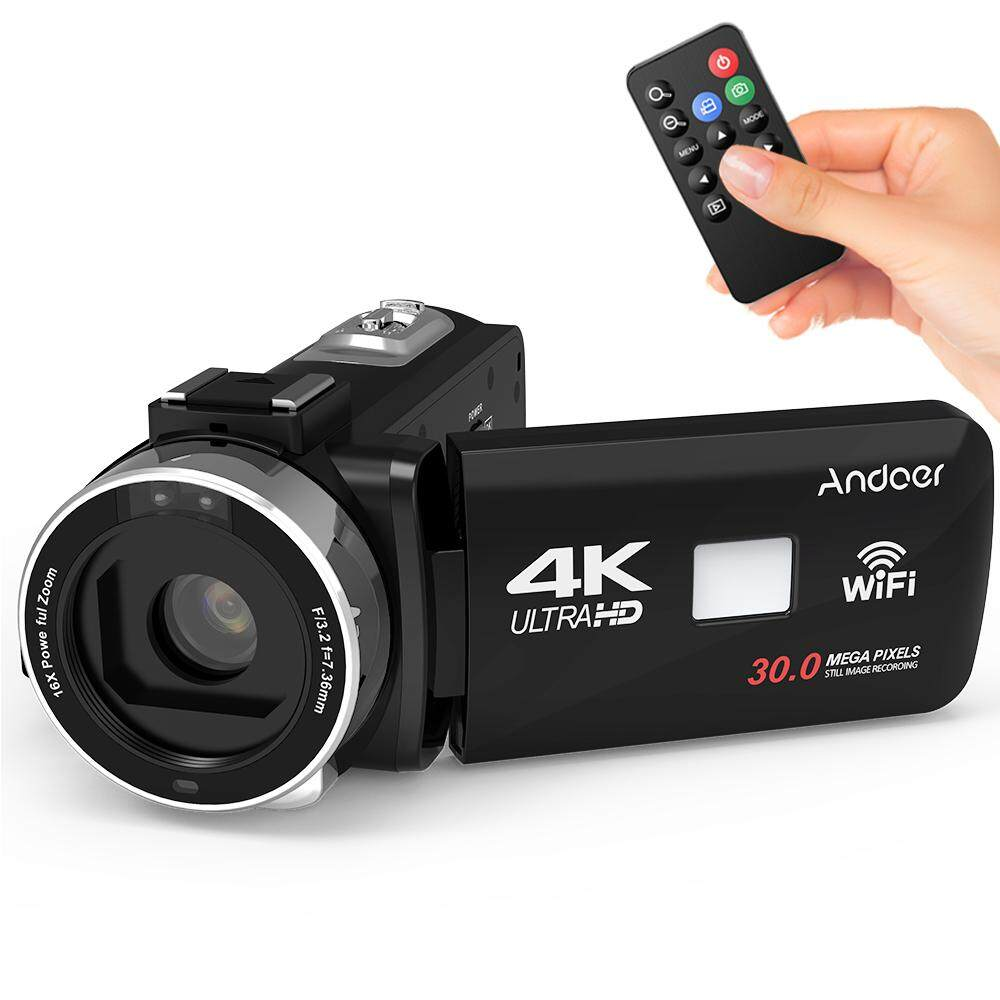 Andoer 4K Ultra HD WiFi Digital Video Camera Camcorder DV Recorder 16X Zoom  3 0