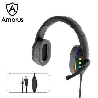 Tai Nghe Chơi Game Amorus AK47, Tai Nghe Âm Thanh Vòm 7.1 Kèm Micro Và Đèn LED thumbnail