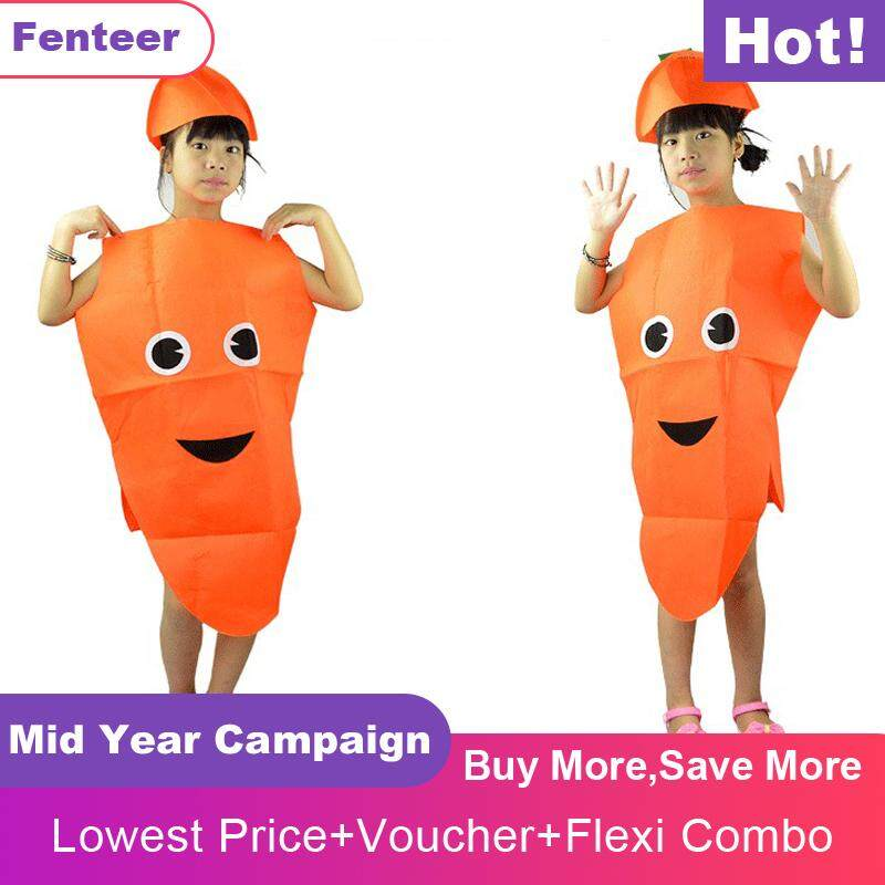 7ecba2ebca3df Fenteer Kids Carrot Costume Non-woven Fabric Vegetable Outfit Party Fancy  Dress