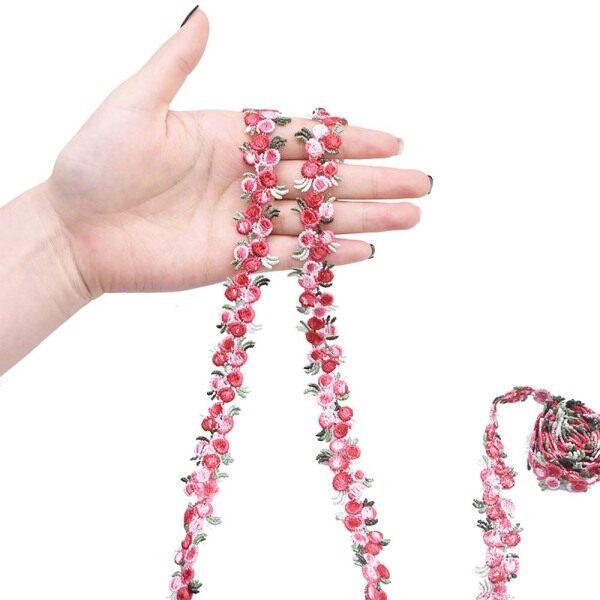 LCK51 Thủ Công DIY Những Bông Hoa Trang Trí Đầm Phong Cách Quốc Gia Hoa Yêu Ren Renwork Ren Polyester May Quần Áo