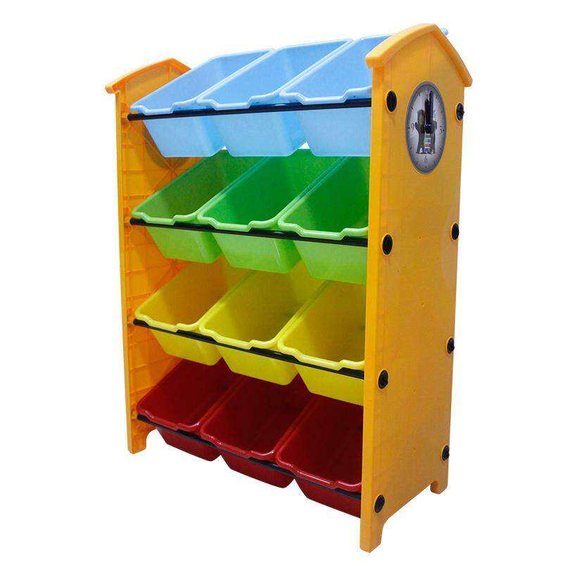 RuYiYu - 61 X 29 X 84cm, Kids Toy Organizer and Storage Bins, 12-Bins in Fun Colors, Toy Storage Rack