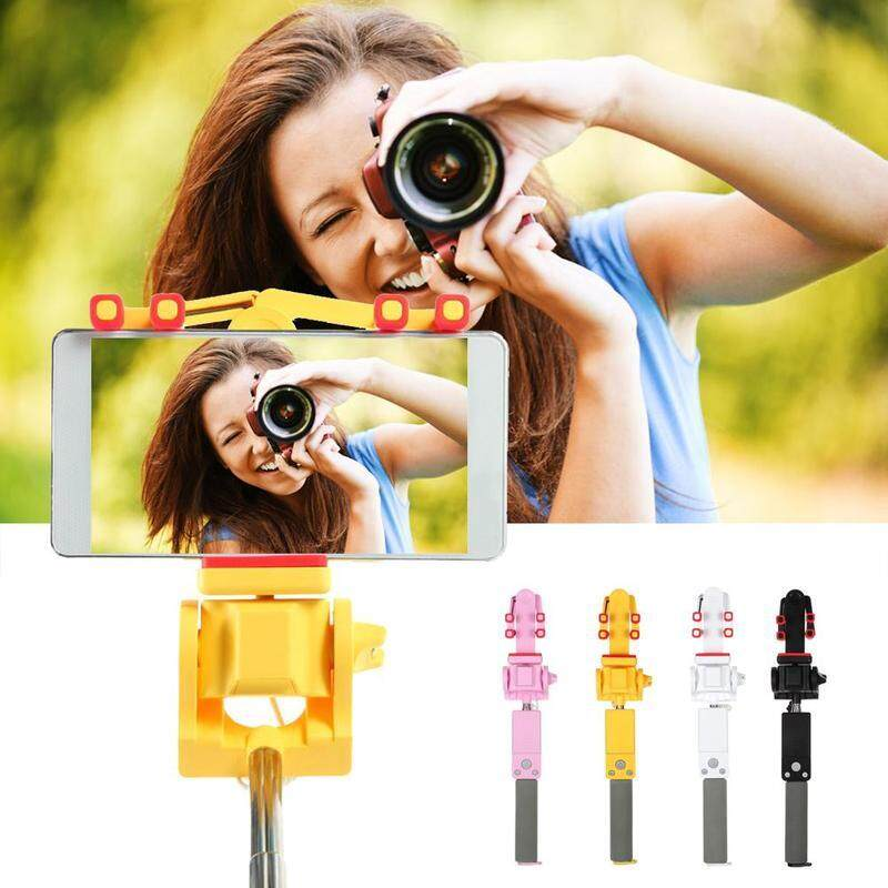 Universal Smart Wireless Bluetooth Selfie Stick Electric 360 Degree Rotation Extendable Monopod for Android IOS Smartphone