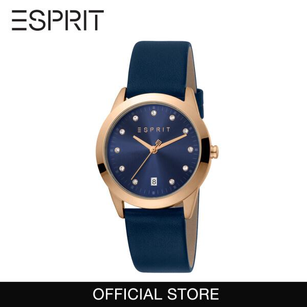 Esprit Classic Blue Leather 34mm Women Watch 1L197 2020 [FREE GIFT- Esprit Unisex T-shirt] Malaysia