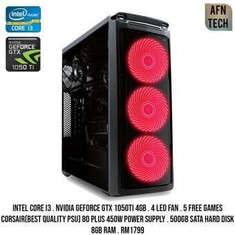 Gaming PC Intel Core i3 Nvidia Geforce Gtx 1050Ti 4Gb Gddr5 8Gb RAM Cpu Desktop