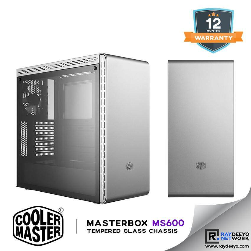 Cooler Master MasterBox MS600 Tempered Glass Chassis (Silver) [ATX, Matx, Mini-ITX] Malaysia