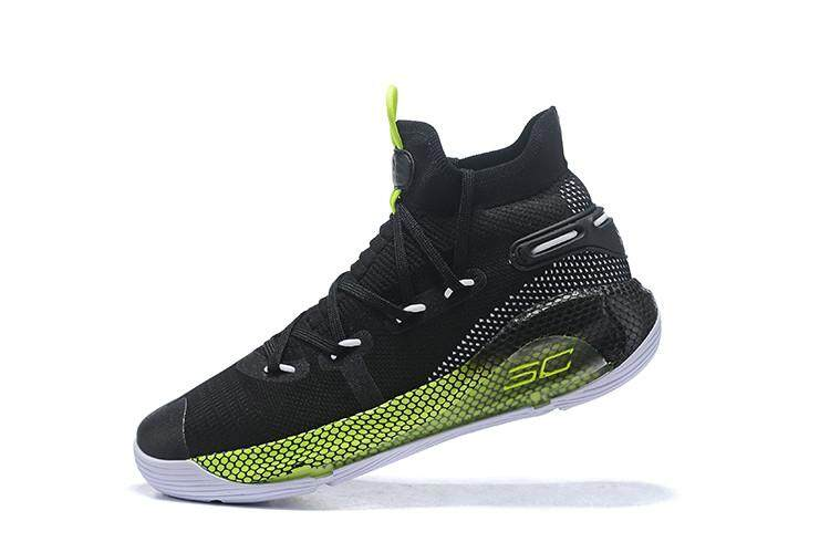 04f8fbc4bb34 Under Armour Original Curry 6 High Top MENS Basketaball Shoe Discounted SC  Black Green White