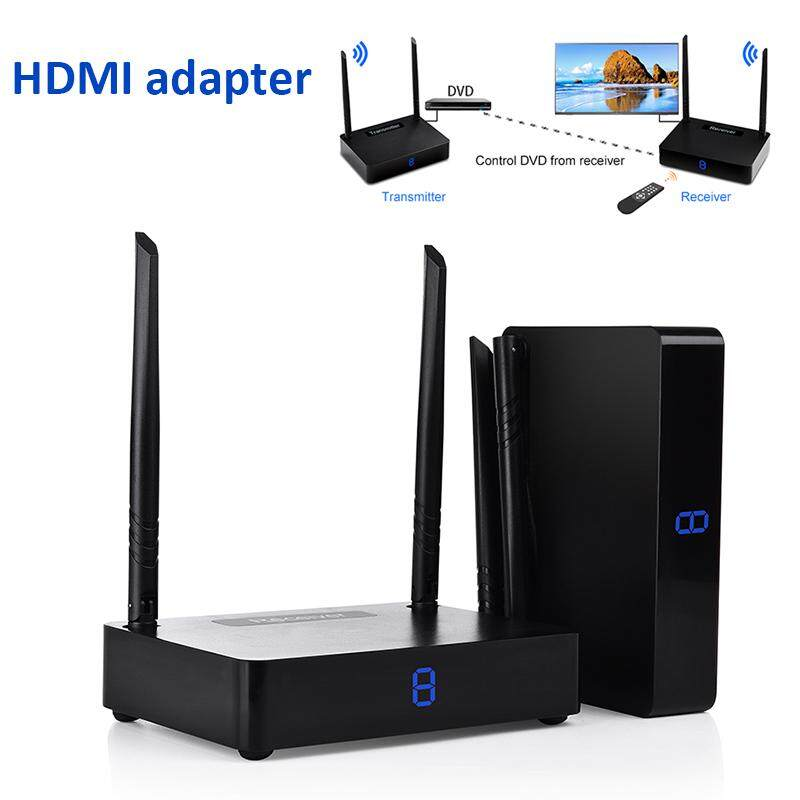 Universal Wireless Transmission Kit Pc Computers Hdtv Film Digital Display 1080p 5.8ghz Wireless Black 350m Projectors Hdmi Receiver Home Theater Hd Set-Top Box By Triumphant.