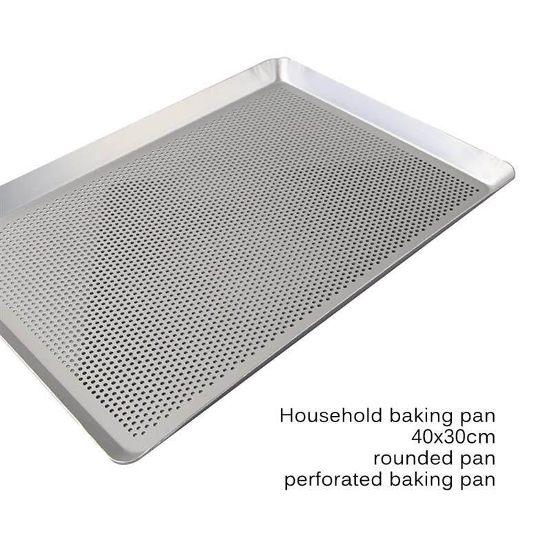 Bánh Chống Dính Hợp Kim Nhôm Hình Chữ Nhật Khay Bánh Quy Đục Lỗ Có Lỗ, Lò Nướng Chảo Nướng Chịu Nhiệt, Nhà Bếp Bakeware