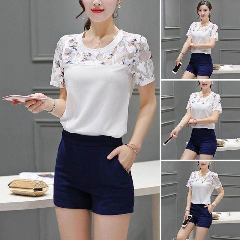 c4cca87b72cce6 Women s Fashion Simple Short Sleeves T-Shirts Summer Novel O Neck Blouses  Tops