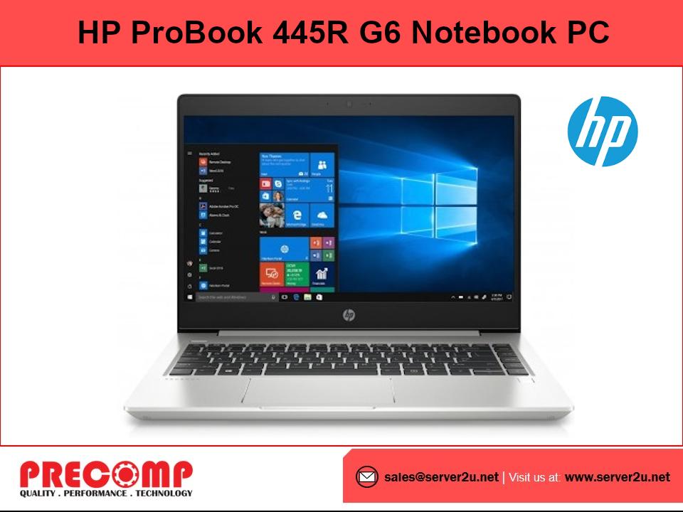 HP ProBook 445R G6 Notebook PC (5 3500U.4GB.500GB) (8PB01PA) Malaysia