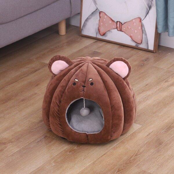 Họa Tiết Cún Cưng Lều Cho Mèo Nhà Kennel Mùa Đông Giường Ấm Mềm Có Thể Gập Lại Thảm Ngủ Pad GW