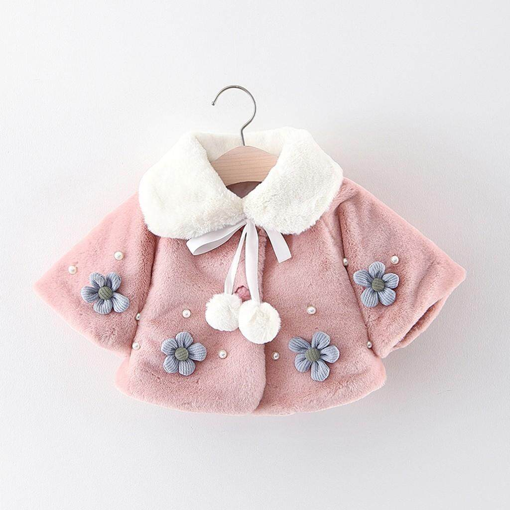 Coats For Girl Baby Infant Girls Autumn Winter Flower Coat Cloak Jacket Thick Warm Clothes By Cnb2c.