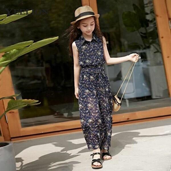 Giá bán Bộ quần áo bé gái yeelion nvt0045, quần ống rộng, mặc mùa hè, thời thượng, mẫu mới