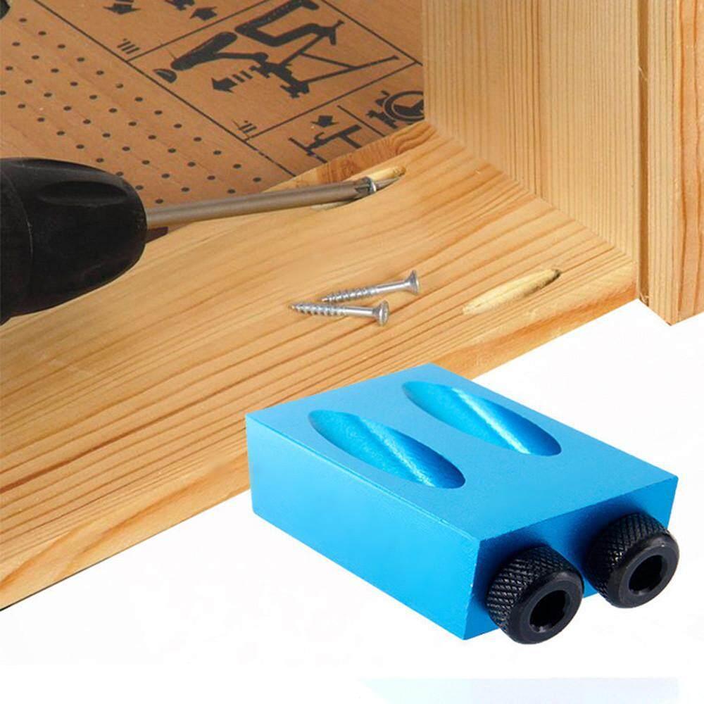 Túi Lỗ Jig Bộ 6/8/10mm 15 ° Góc Adapter Khoan Hướng Dẫn Chế Biến Gỗ Adapter