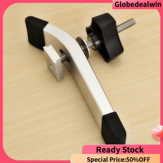 [Globedealwin]Metal Quick Acting Hold Down Clamp Set for T-Slot T-Track Woodworking Tool