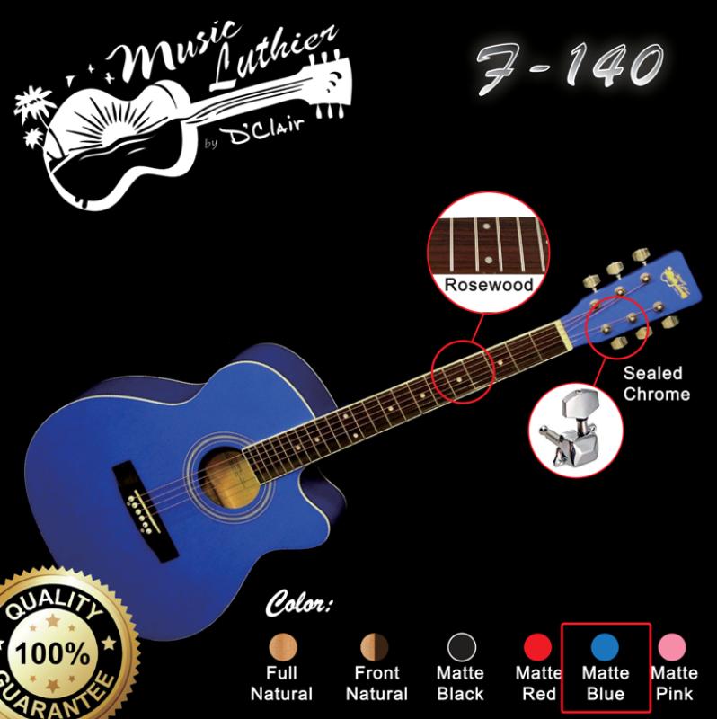 Music Luthier by DClair Standard 40 Inch  Folk Guitar F-140 BL (BLUE) Malaysia Malaysia