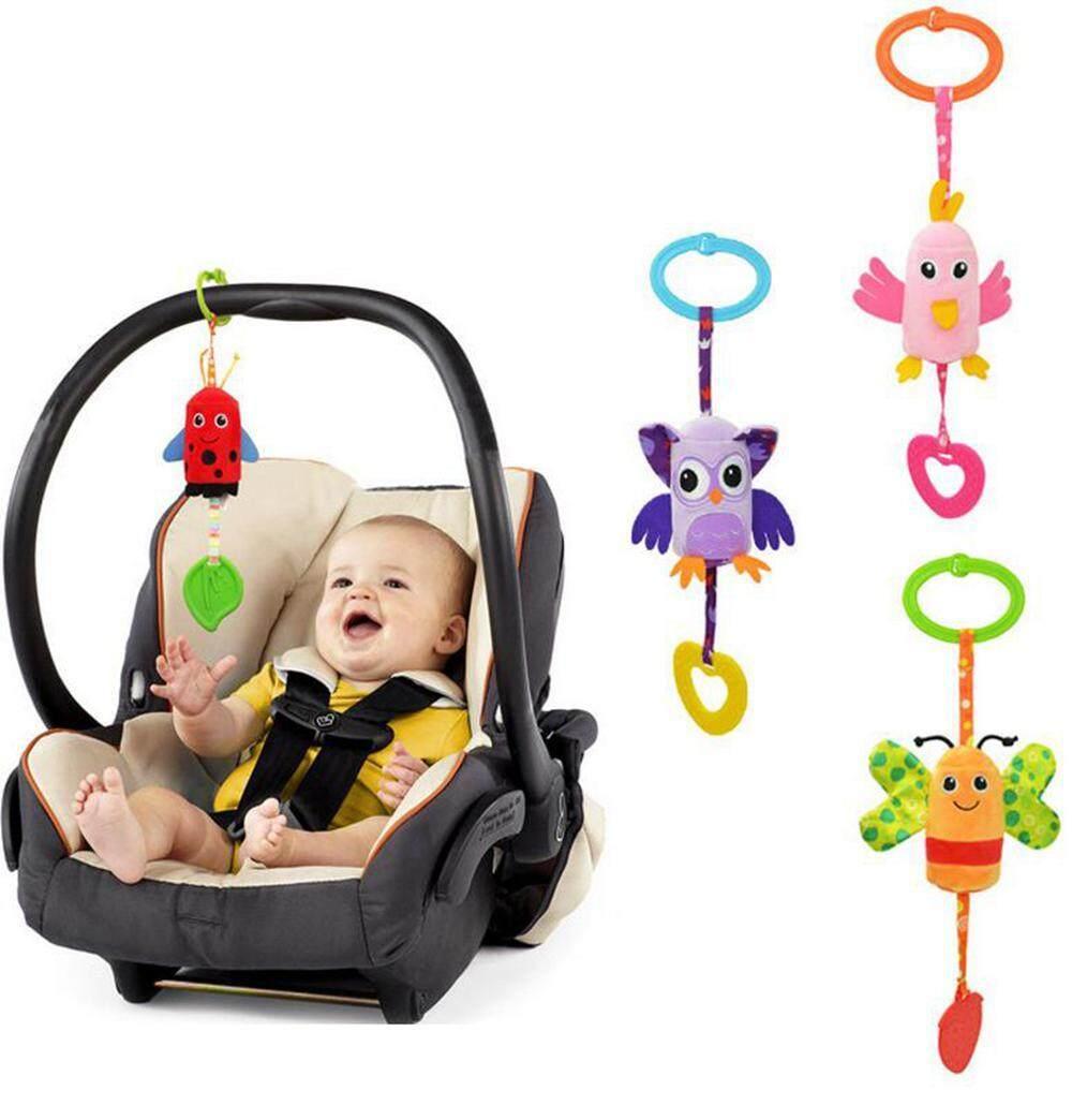 Image 4 for GoodGreat ของเล่นทารกแบบเขย่าชุดของเล่นรถเข็นเด็กสัตว์ระฆังแขวนของเล่นใหม่ทารกของเล่นเด็ก Plush เด็กวัยหัดเดินรถรถเข็นเด็กเล่นของเล่นแบบแขวนน่ารักโมบายกระดิ่งลม
