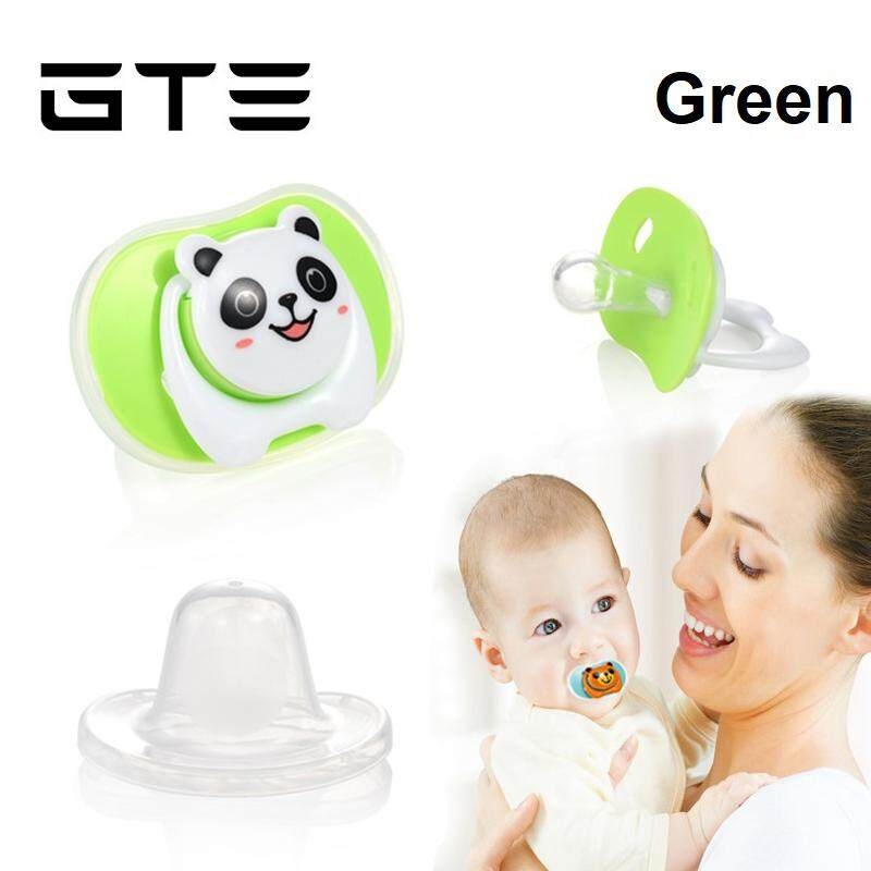 GTE Newly Newborn Kids Baby Cartoon Infant Pacifier With Dust Cover Round Cute Head - Fulfilled by GTE SHOP