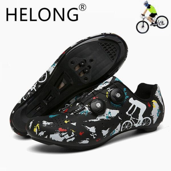 HELONG Người Đàn Ông Và Phụ Nữ Đi Xe Đạp Giày Spd Thể Thao Xe Đạp Sneakers Hombre Chuyên Nghiệp Leo Núi Đường Xe Đạp Giày Triathlon Lớn Kích Thước 36-47