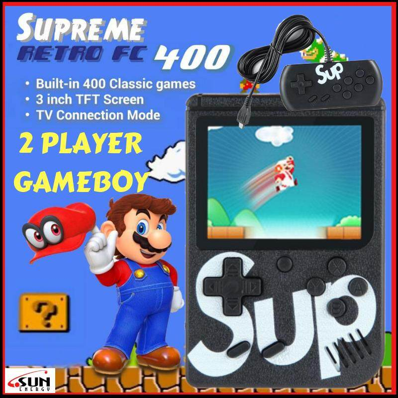 SUN ENERGY GAMEBOY 2 PLAYER SUP GAME BOX MARIO RETRO GAME STATION Built-In  400 Games 3 0