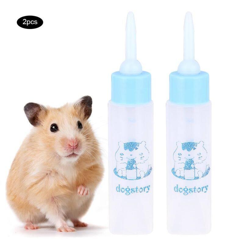 Maelivi 2 Chiếc 30 Ml Hamster Nuster Chai Chó Con Thú Cưng Nhỏ Sóc Mèo Con Cho Con Bú Bình Sữa Nước  br/  Sky Blue