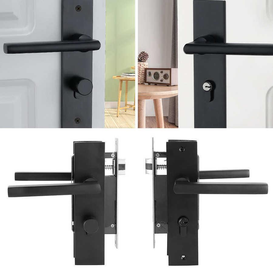 Aluminum Door Handle Lock European Style Bedroom Interior Door Lock Set With Keys Screw Home Security Accessories Lock Security Lazada Singapore