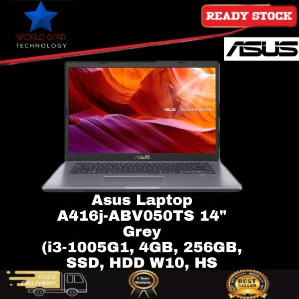 Asus A416J-ABV050TS 14 Laptop Slate Grey ( I3-1005G1, 4GB, 256GB SSD, Intel, W10, HS ) Malaysia