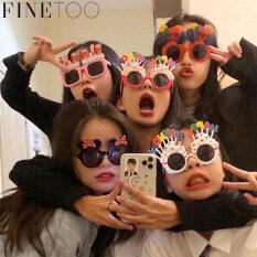 FINE TOO Kính Dự Tiệc Sinh Nhật In Chữ Capcake Hoạt Hình Kính Râm Chống Tia UV Nhiều Màu Phụ Kiện Thời Trang Cho Trẻ Em Nữ