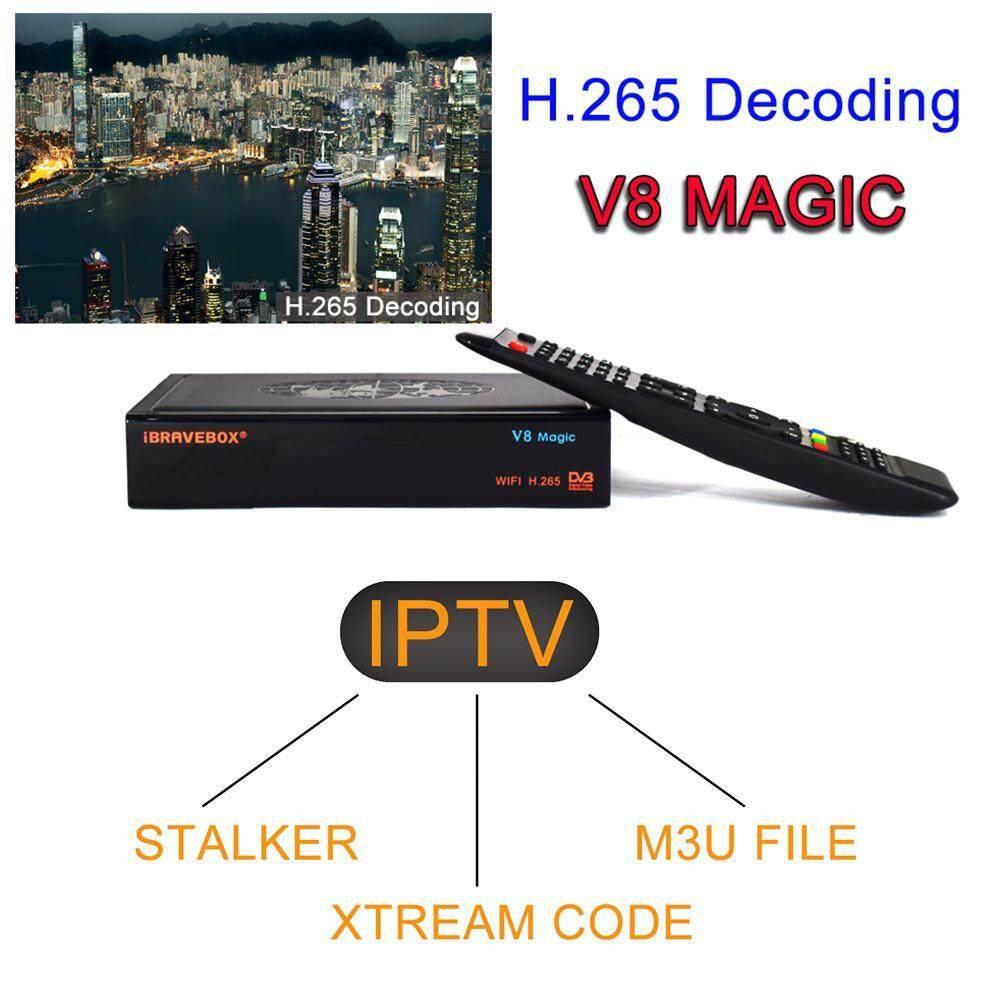 Hastra 2019 NEW Satellite Receptor iBRAVEBOX V8 Magic DVB-S2 H 265 built-in  WIFI Receptor Support IPTV