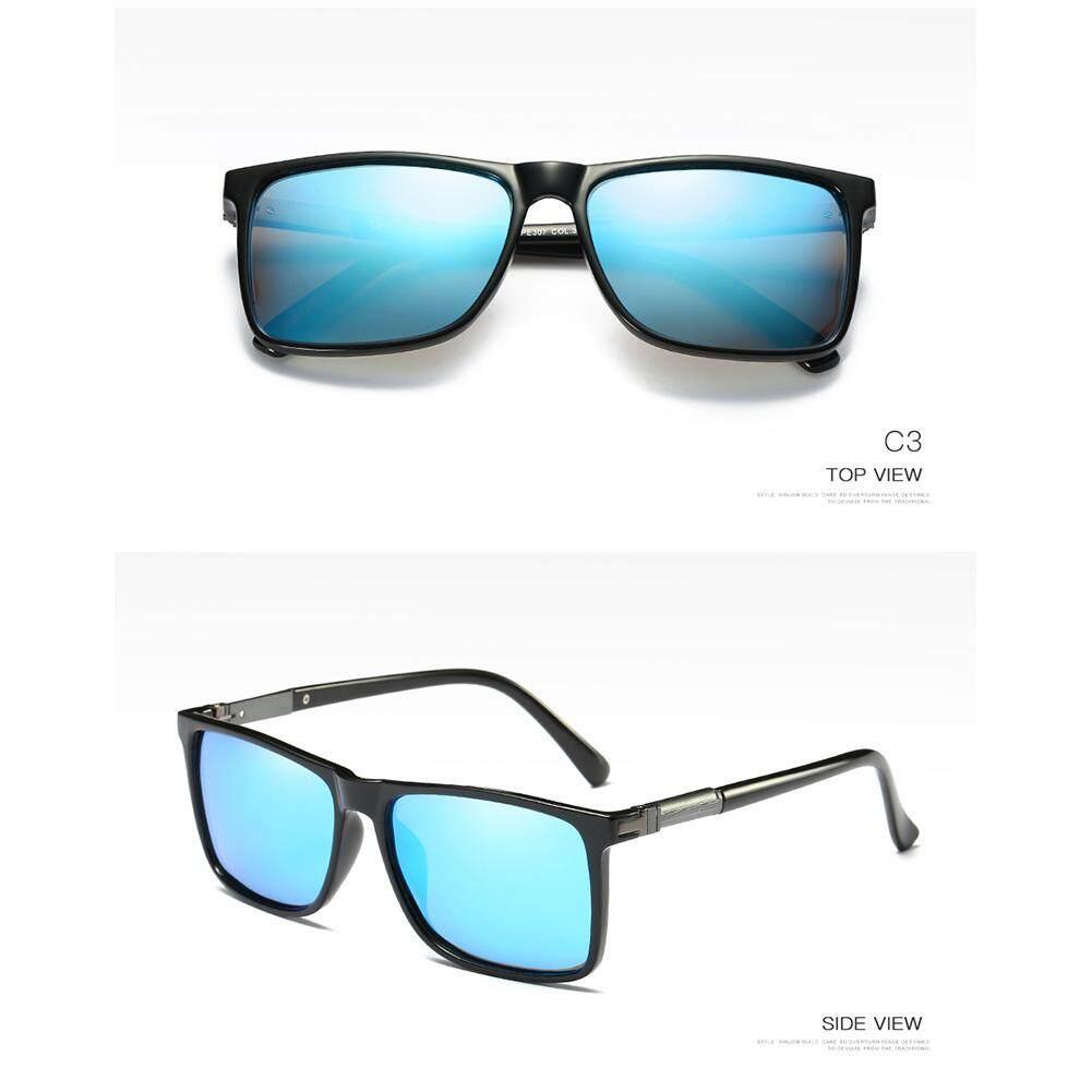 Veecome Men Fashion Glasses Spring Holder UV400 Polarized Sunglasses
