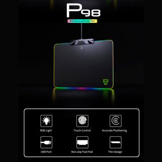 Miếng Lót Chuột Motospeed P98 RGB Công Tắc Cảm Ứng Điện Dung 350 250 3.5Mm, L-ED Có Dây USB Chiếu Sáng Nhiều Màu RGB Tấm Lót Chuột Chơi Game Miếng Lót Chuột Thảm Chuột Cho Máy Tính Xách Tay thumbnail