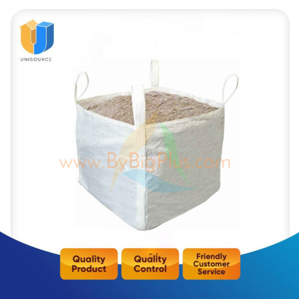 Jumbo Bag for Sands, PP Woven Top Open, Bottom Closed Designed. Size: 80cm x 80cm x 80cm, 1 tons Loading Weight Jumbo Bag