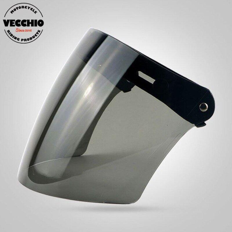 Phân phối Ba Snaps Visor Kính TORC One More Vintage Mũ Bảo Hiểm Kính Chắn Gió Màn Chắn Mũ Bảo Hiểm Mũ Bảo Hiểm Phi Công Visor Jet Scooter Kính Mũ Bảo Hiểm