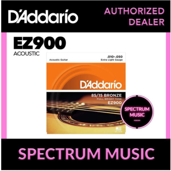 DAddario EZ900 Acoustic Guitar Strings (85/15 Bronze, Extra Light 10-50) Malaysia