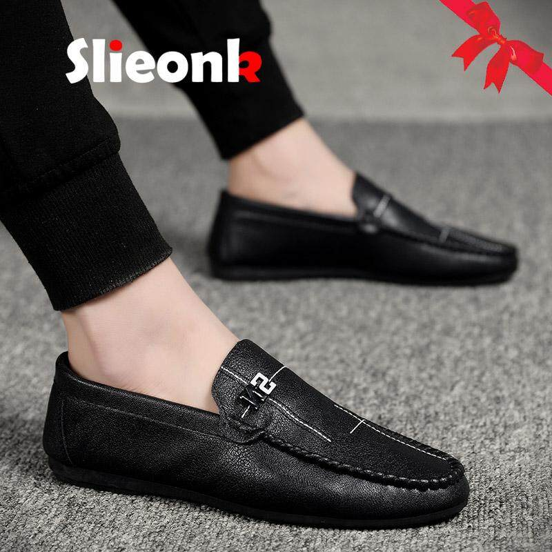 New Casual Loafers Shoes Young Blue Black Men Walking Driver Shoes Comfortable Non-slip Male Lazy Shoes Rubber Sole Flats Shoes Men's Casual Shoes