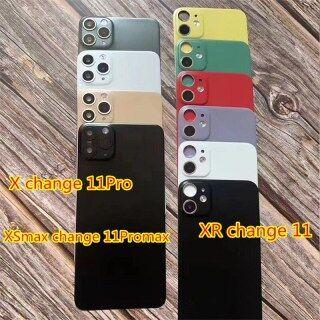 Tấm bảo vệ mặt sau 2 trong 1 cho Iphone x XS Max giây thay đổi miếng dán ống kính 11 Pro Max miếng dán camera vỏ sau bằng hợp kim Titan thumbnail