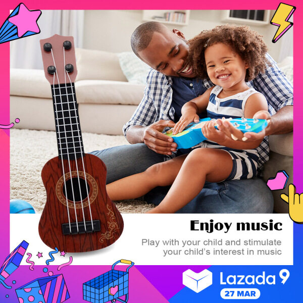 OrzBuy Kids Ukulele Guitar Toy 4 Strings Toy Guitar Ukulele for Kids Mini Guitar Children Musical Instruments for Kids Mini Classical Ukuleles for Beginners Kids Child Ukulele Guitar Acoustic Kids Toy Guitar Malaysia