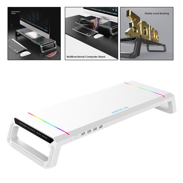 Bảng giá Blesiya Giá Đỡ Màn Hình Máy Tính Bằng Nhôm Giá Đỡ Để Bàn RGB 4 USB Phong Vũ